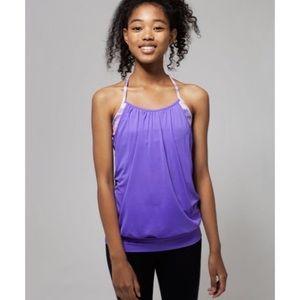 Lululemon Ivivva purple sports bra tank top